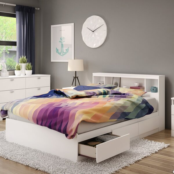 Reevo Mates & Captains Bed with Drawers and Bookcase by South Shore