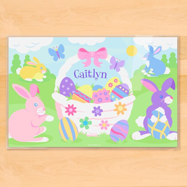 Easter Basket Girls Personalized Placemat by Olive Kids
