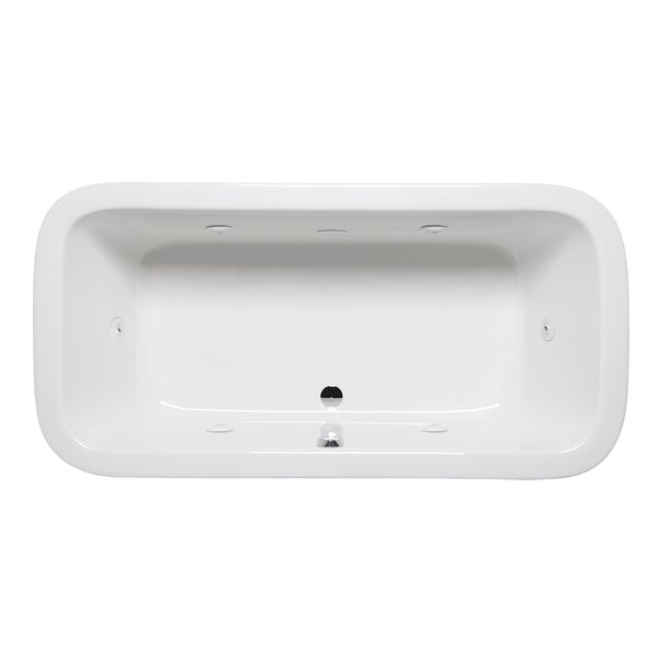 Nerissa 72 x 36 Drop in Whirlpool Bathtub by Americh
