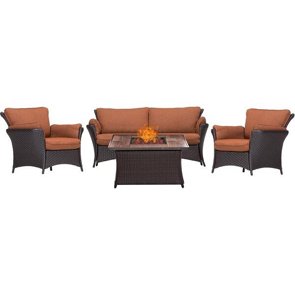 Billington 4 Piece Sofa Set with Cushions by Brayden Studio