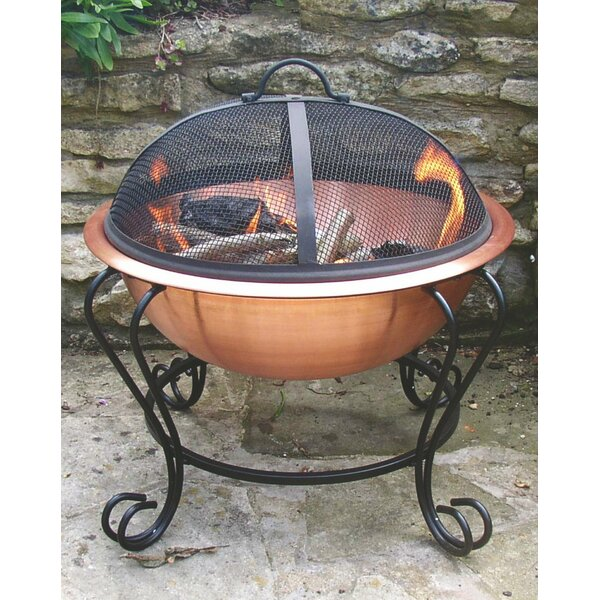 Copper Plated Steel Wood Burning Fire Pit by Pomegranate Solutions, LLC