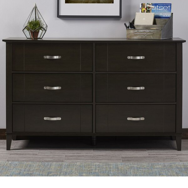 Philippa 6 Drawer Double Dresser by Andover Mills