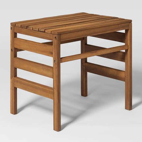 Dravin Outdoor Solid Wood Side Table By Longshore Tides