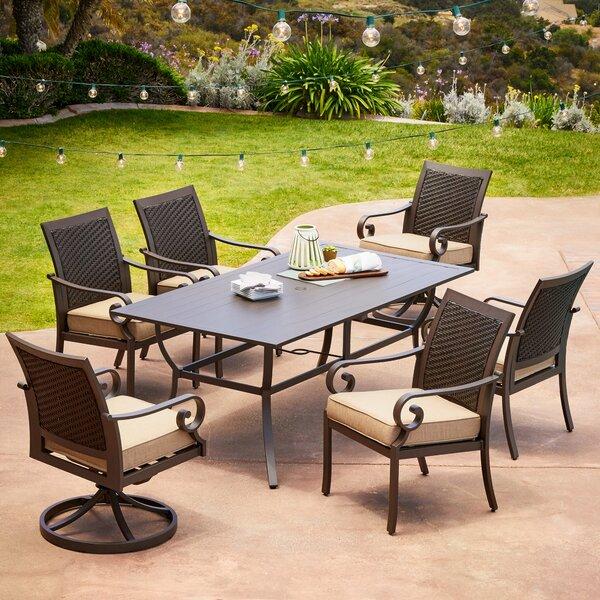 Kingston Seymour Milano 7 Piece Dining Set with Cushions Bayou Breeze RGAR1087