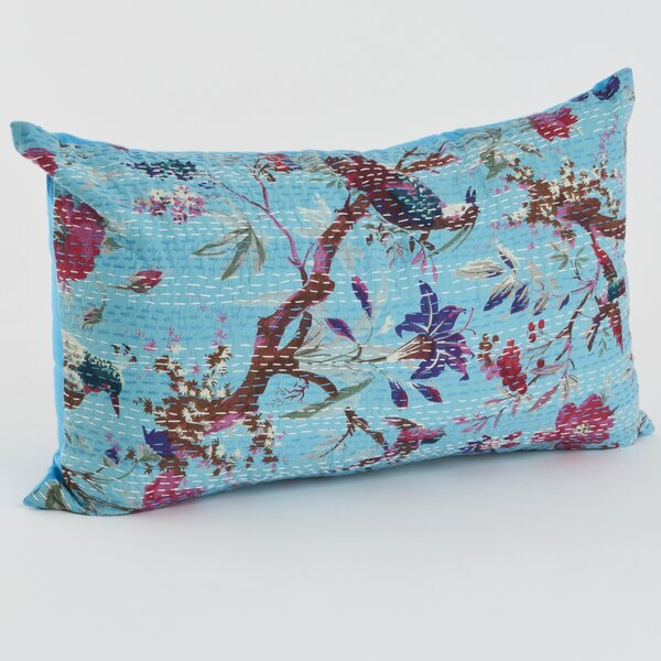 Printed Cotton Throw Pillow by Saro