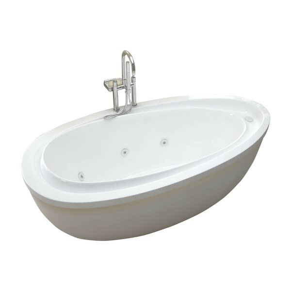 Capricia 71 x 38.37 Oval Freestanding Whirlpool Jetted Bathtub by Spa Escapes