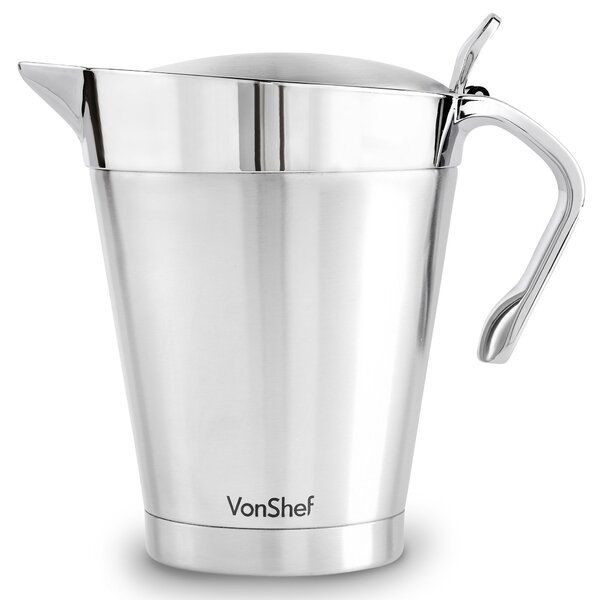 Insulated Stainless Steel Gravy Boat by VonShef