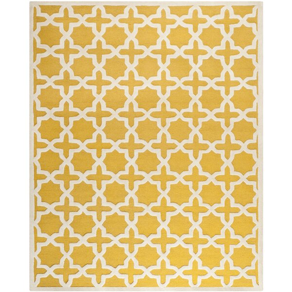 Martins Yellow Area Rug by Wrought Studio