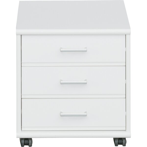 Waltrip 3-Drawer Mobile Vertical Filing Cabinet by Latitude Run