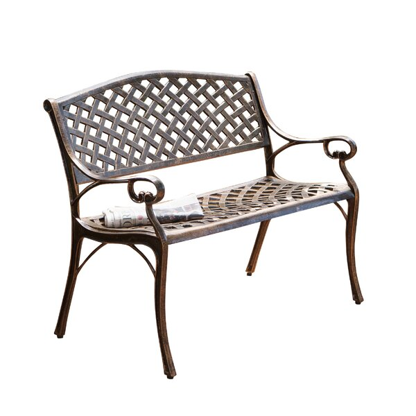Clifford Cast Aluminum Garden Bench by Alcott Hill Alcott Hill