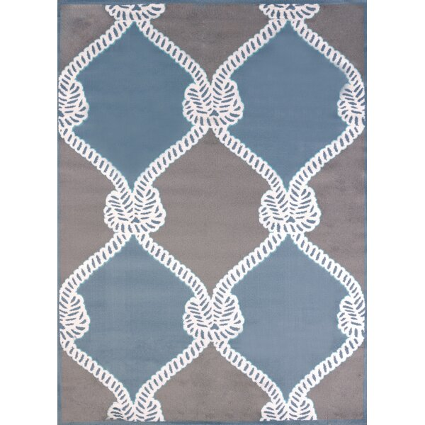 Modern Texture Cordage Blue Area Rug by United Weavers of America