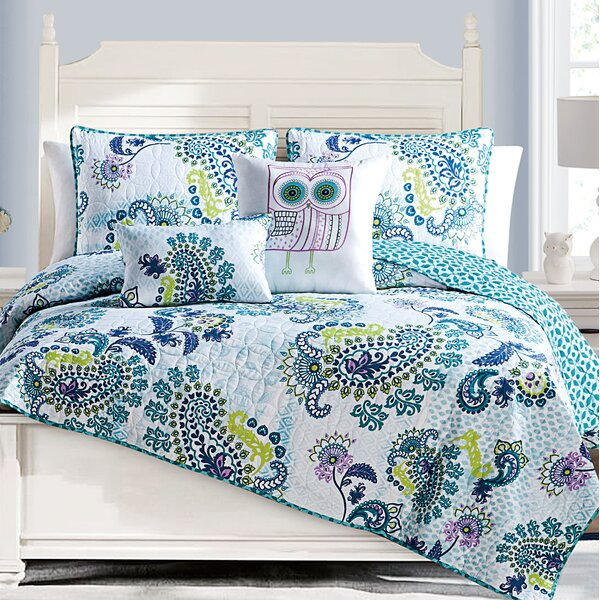 Willoughby 5 Piece Reversible Quilt Set by Harriet Bee