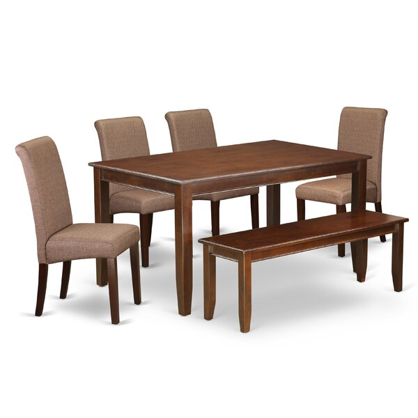 Brandy Kitchen Table 6 Piece Solid Wood Dining Set by Winston Porter