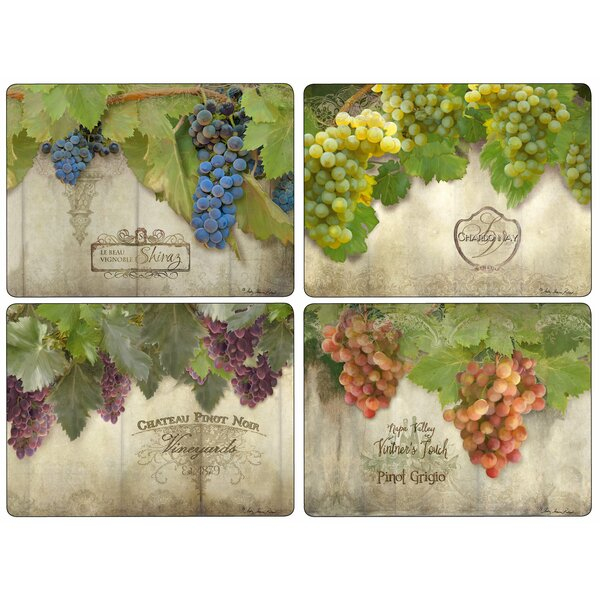 Tuscan Vineyard 4 Piece Placemat Set by Pimpernel