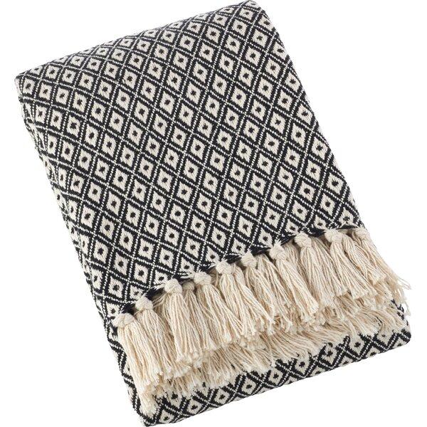 Ketner Diamond Weave Soft Cotton Throw by Wrought Studio