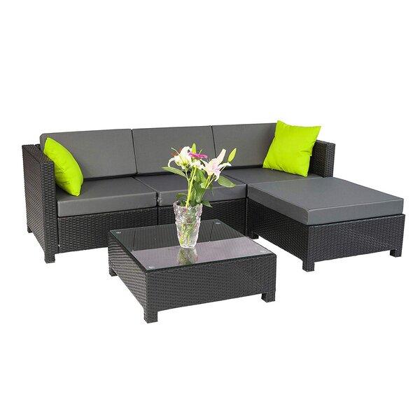 Cregan Outdoor Garden Patio Sectional with Cushions by Brayden Studio Brayden Studio