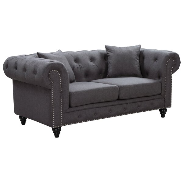 Bottom Chesterfield Loveseat by Darby Home Co