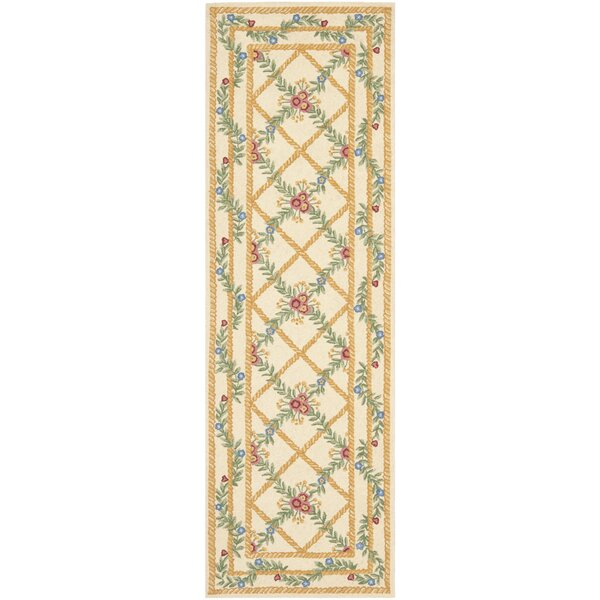Kinchen Ivory French Trellis Rug by August Grove