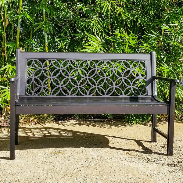 Metro Aluminum Garden Bench by Innova Hearth and Home
