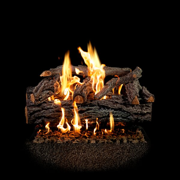 Four Seasons Vented Log Set with Remote by SureHeat