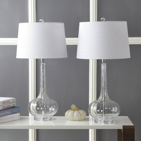 Fairbairn Glass Teardrop 29 Table Lamp (Set of 2)