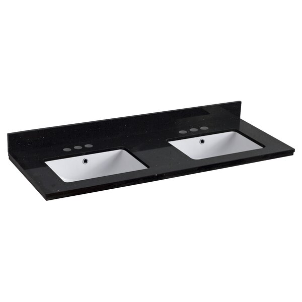 Behanan Quartz 48 Double Bathroom Vanity Top