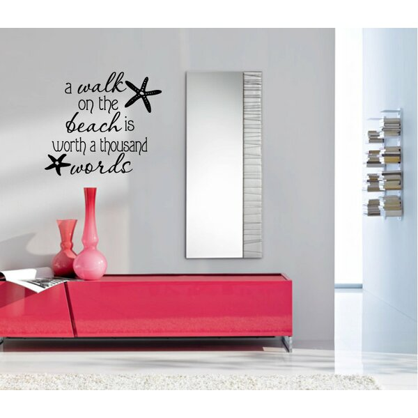 A Walk on the Beach is Worth a Thousand Words Wall Decal by Rosecliff Heights