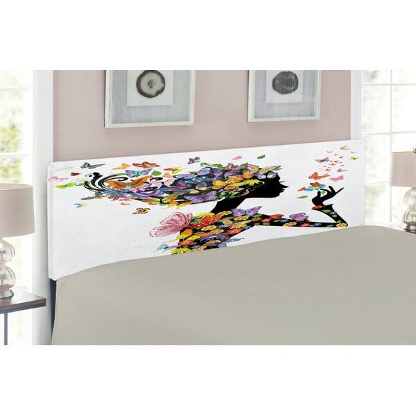 Butterflies Upholstered Panel Headboard By East Urban Home 2019 Sale