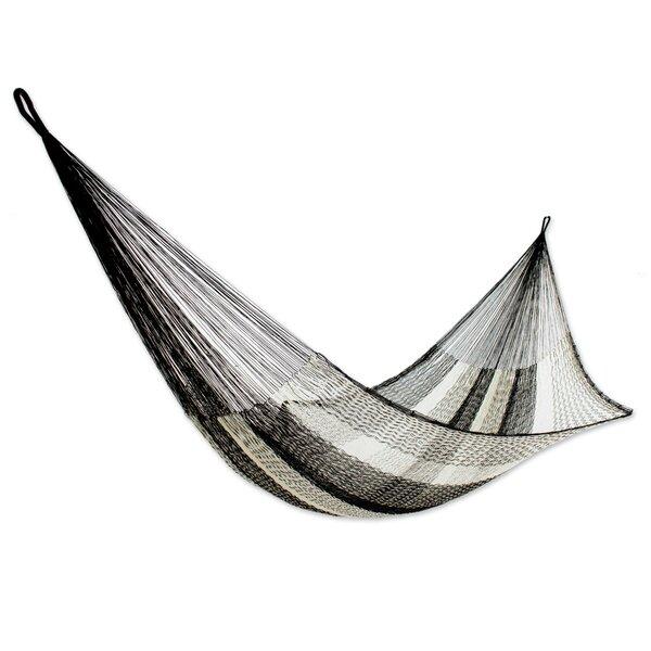 Somber Slumber Rope Single Nylon Tree Hammock by Novica