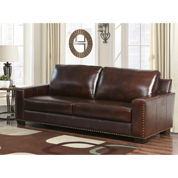 Lemon Grove Leather Sofa by Trent Austin Design