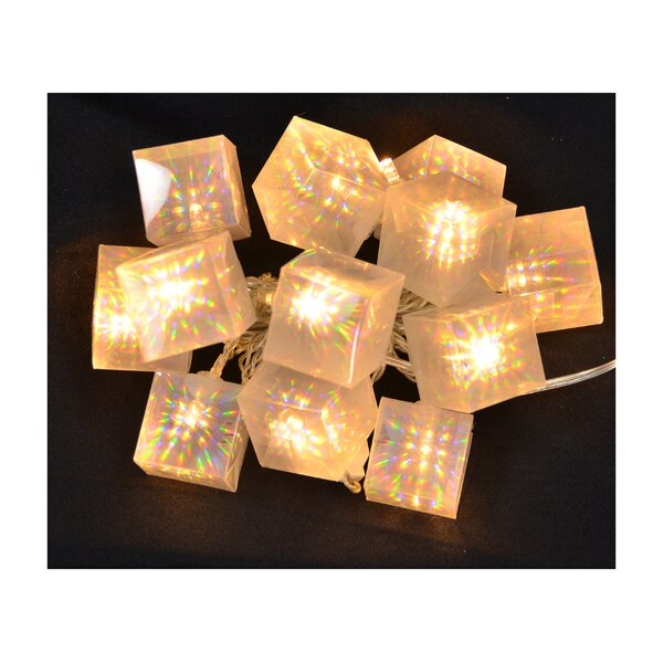 10 Bulb Gift Box Garland (Set of 2) by The Holiday Aisle