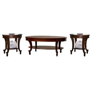 Fitchett 3 Piece Coffee Table Set ByThree Posts