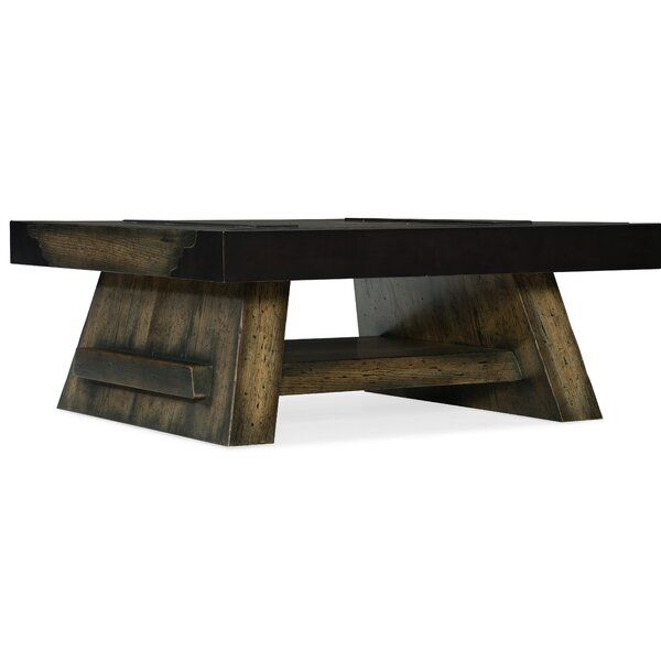 Crafted Coffee Table with Tray Top by Hooker Furniture