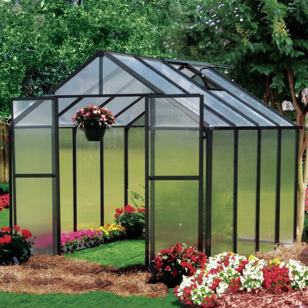 Monticello 8 Ft. W x 8 Ft. D Hobby Greenhouse by Riverstone Industries