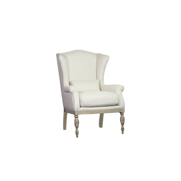 Emrys Wingback Chair by One Allium Way One Allium Way