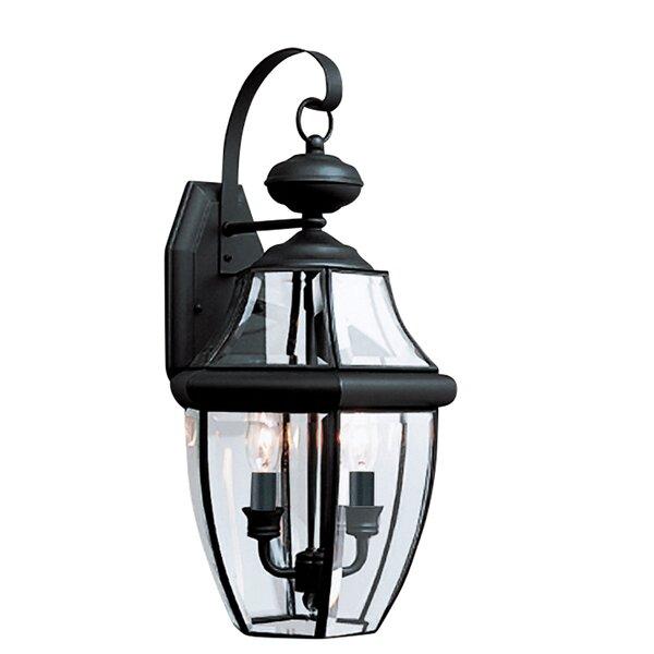 Tillison 2-Light Outdoor Wall Lantern by Charlton Home