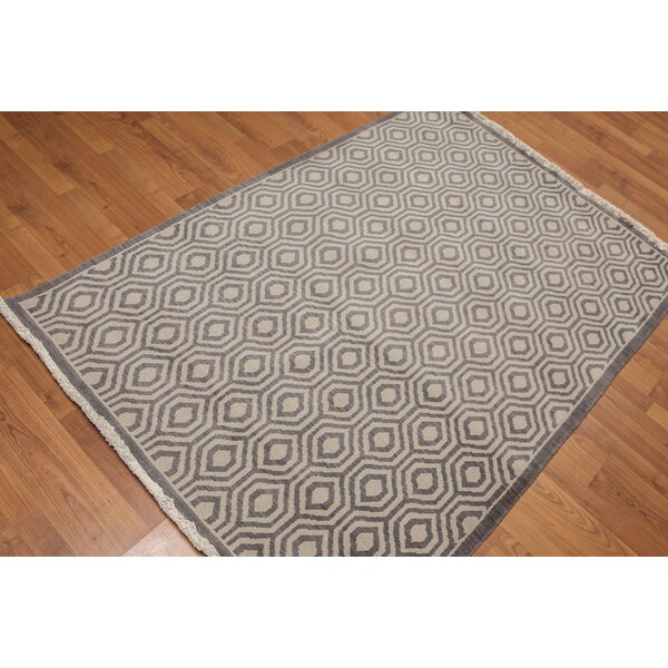 One-of-a-Kind Doyal Hand-Knotted Wool Gray Area Rug by Corrigan Studio