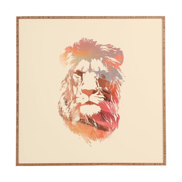 Desert Lion Framed Graphic Art by East Urban Home