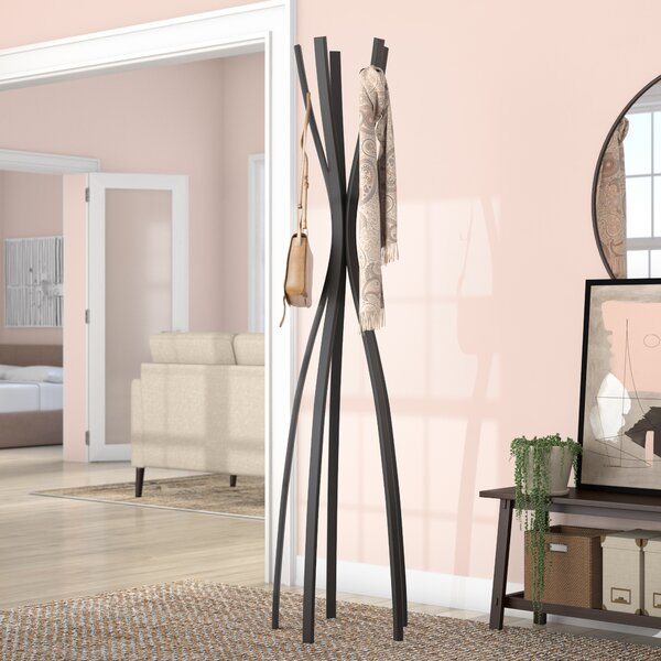 Conners Satin Coat Rack by Mercury Row