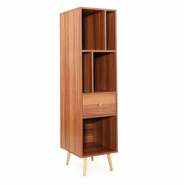 Saona Wood Wide Standard Bookcase By Ebern Designs