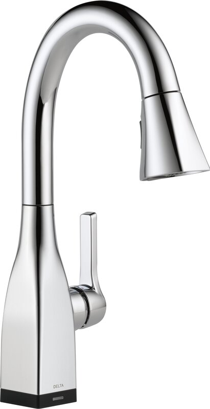 Mateo Pull Down Touchless Single Handle Kitchen Faucet With Led Light And Magnae Docking