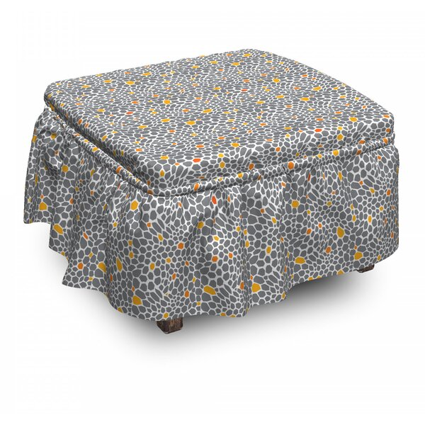 Abstract Spotty Ottoman Slipcover (Set Of 2) By East Urban Home