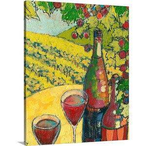 'SIP 2010 - Celebrating Oregon Wine Country' by Jennifer Lommers Painting Print on Canvas by Canvas On Demand