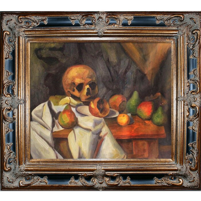 Tori Home Nature Morte Au Crane by Paul Cezanne Framed Painting ...