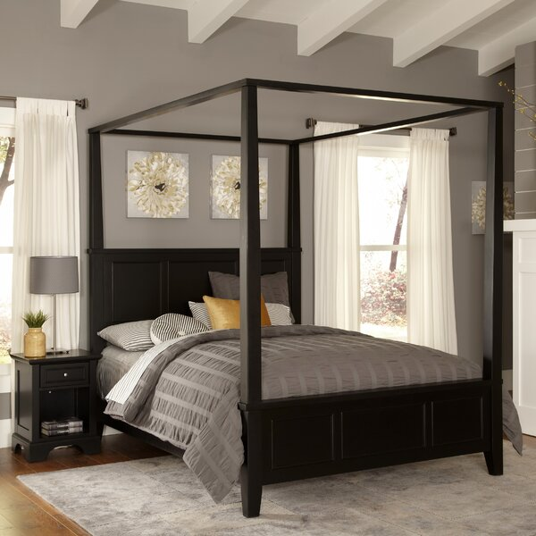 Cusick Canopy 2 Piece Standard Bedroom Set by Three Posts