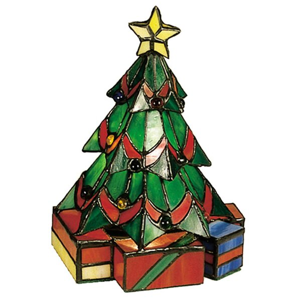 Tiffany Holiday Christmas Tree Accent Table Lamp by Meyda Tiffany