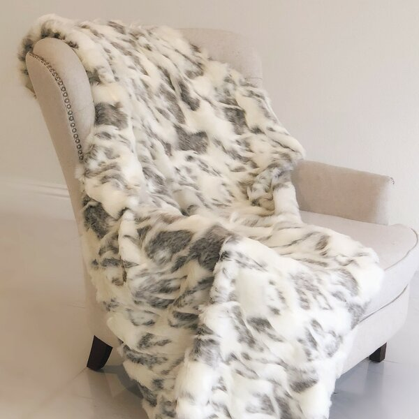 Sylvia Handmade Luxury Faux Fur Throw by Foundry Select