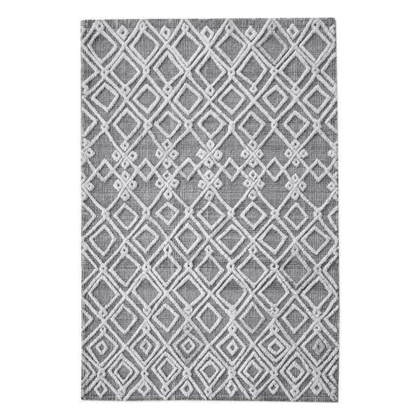 Nicoletti Hand-Woven Rectangle Wool Gray/Ivory Area Rug by Brayden Studio