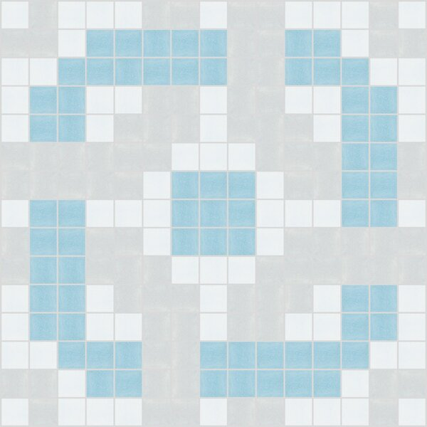 Urban Essentials Rounded Lattice 3/4 x 3/4 Glass Glossy Mosaic in Breeze Blue by Mosaic Loft