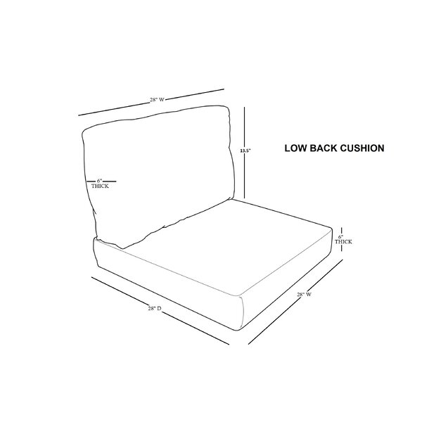 East Village 4 Piece Indoor/Outdoor High Back Cushion Cover Set by Rosecliff Heights